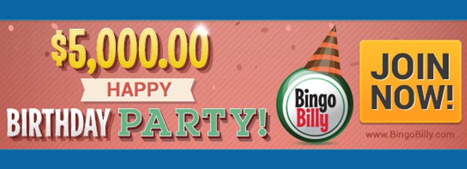 $5,000 Happy Birthday Party Celebration at Bingo Billy