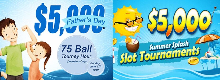 $5,000 Father's Day 75 Ball Bingo Tourney Hour Sunday