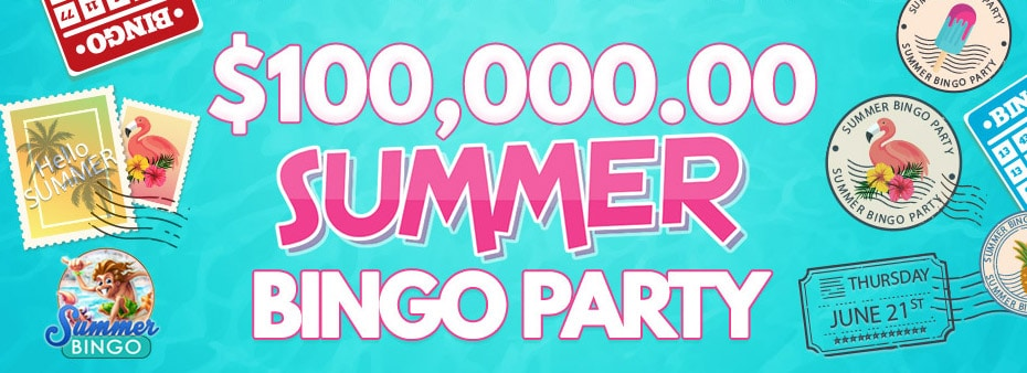 Join in the bingo party with up to $100,000 to be won