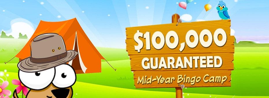 $100,000 GUARANTEED Amigo Bingo Mid-Year Bingo Camp