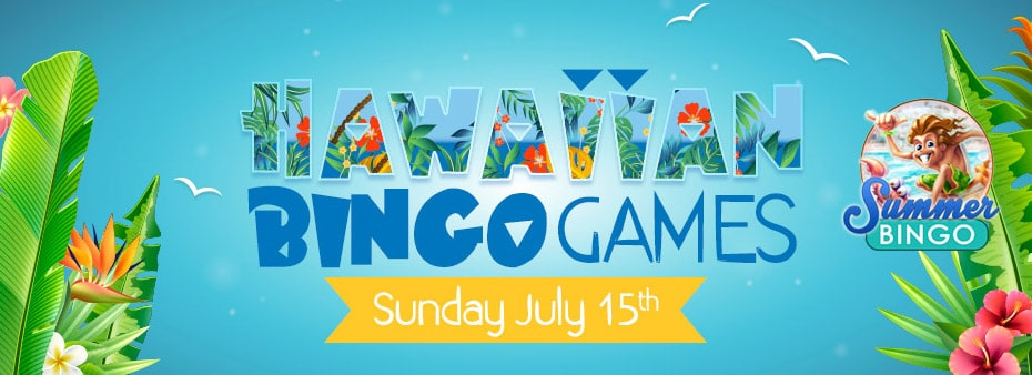 Join Hawaiian Bingo Party for fantastic cash bingo prizes