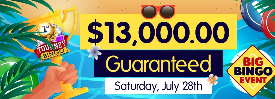 Win big in the biggest bingo event of the month