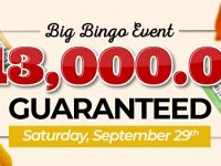 Win big in the September 2018 Big Bingo Event