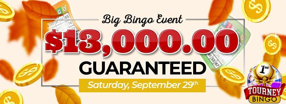 Win big in the September 2018 Big Bingo Event