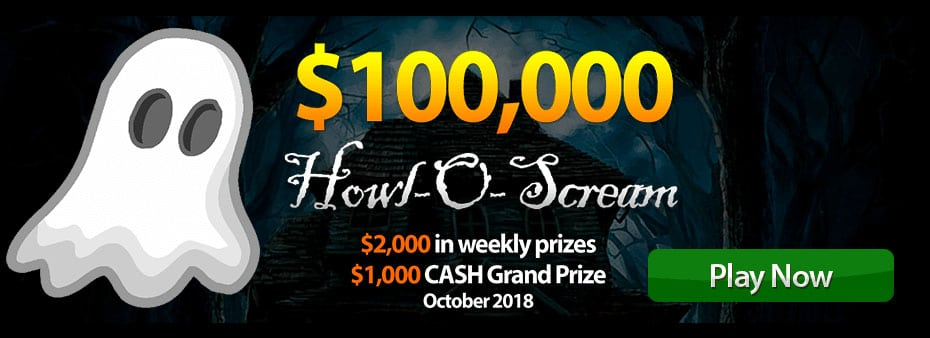 $100,000 Howl-O-Scream at Amigo Bingo in October 2018