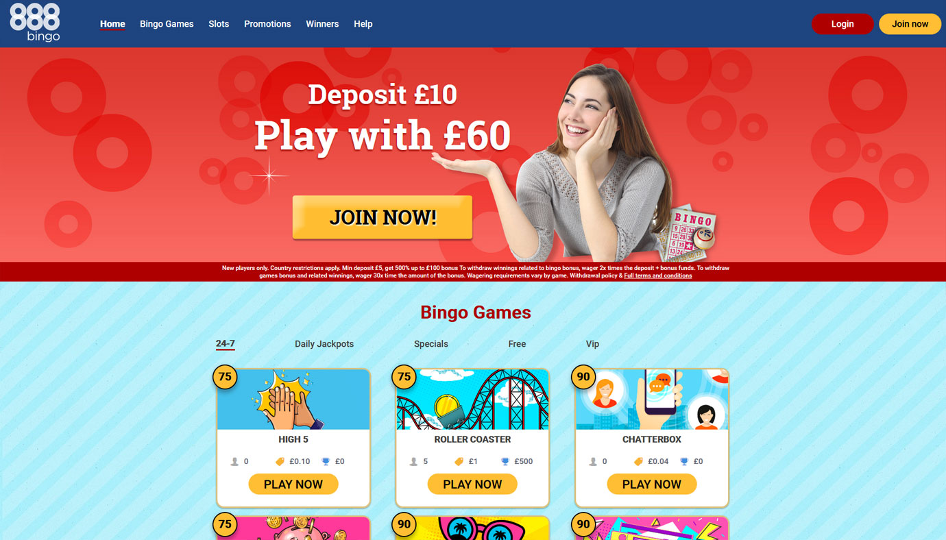 888 Bingo website