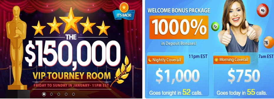 The $150,000 VIP Tourney Binog Room is Back! Every Weekend in January