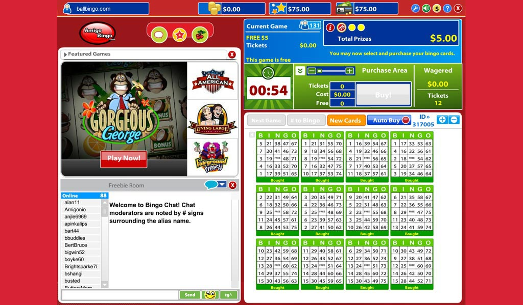 amigo bingo free room