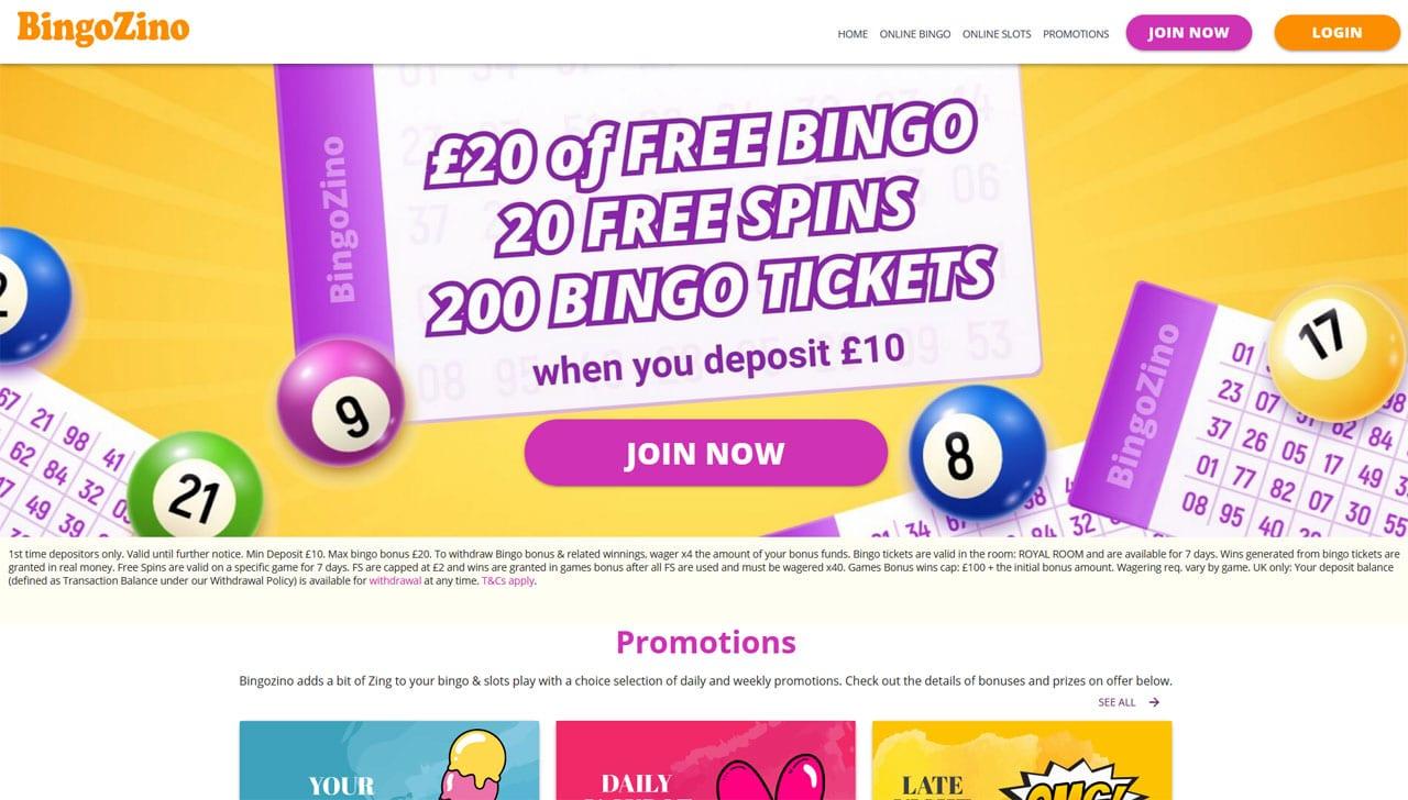 BingoZino website