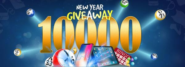 $10,000 New Year Giveaway – celebrate the New Year and win in this tourney!
