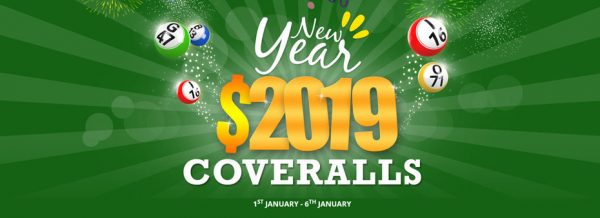 Bingo for Money New Year $2019 Coveralls