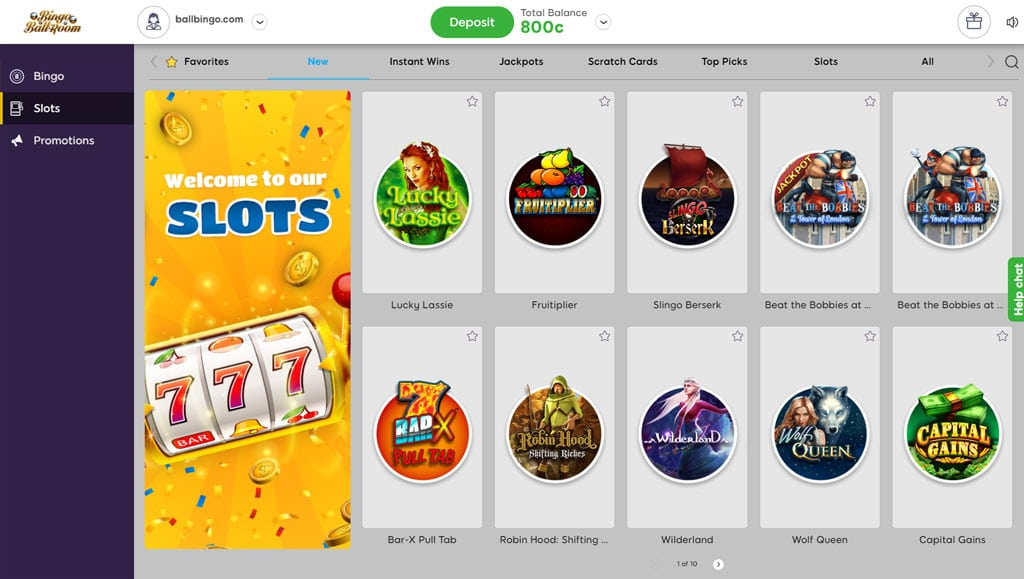 bingo ballroom slots