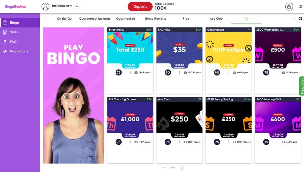 bingo besties lobby