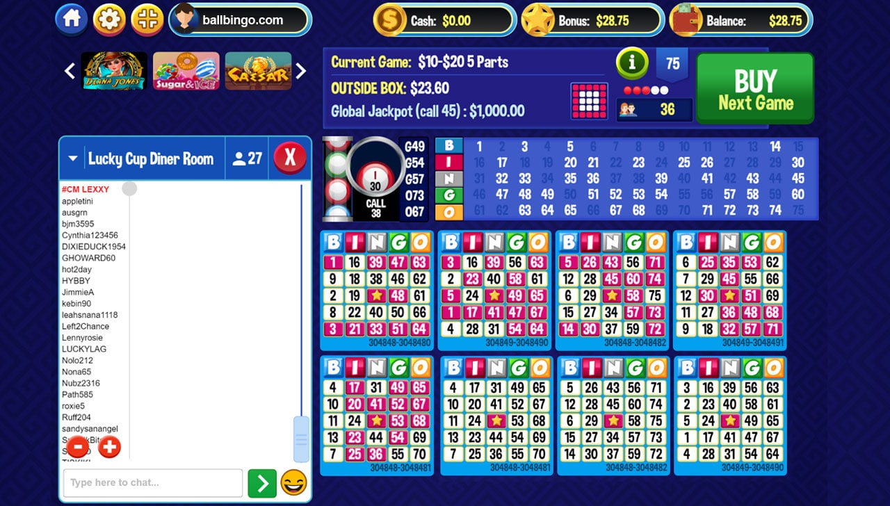 bingo billy games