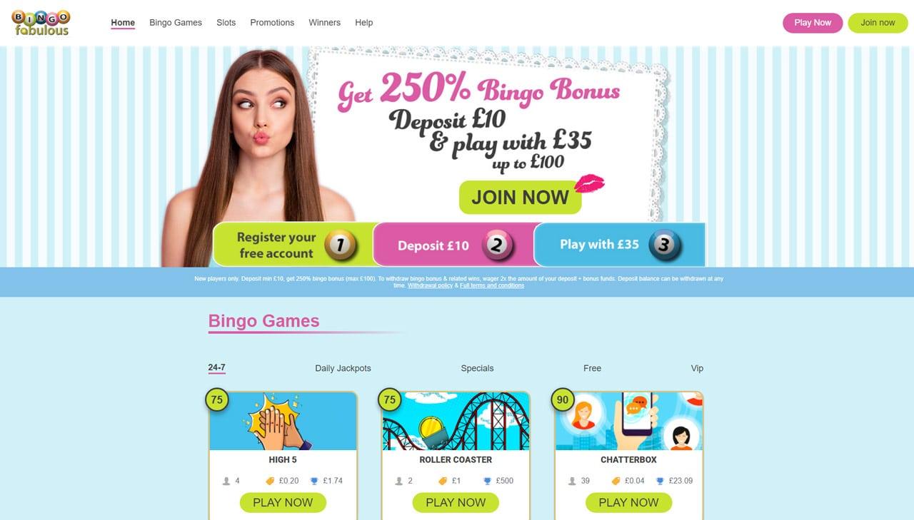 Bingo Fabulous website