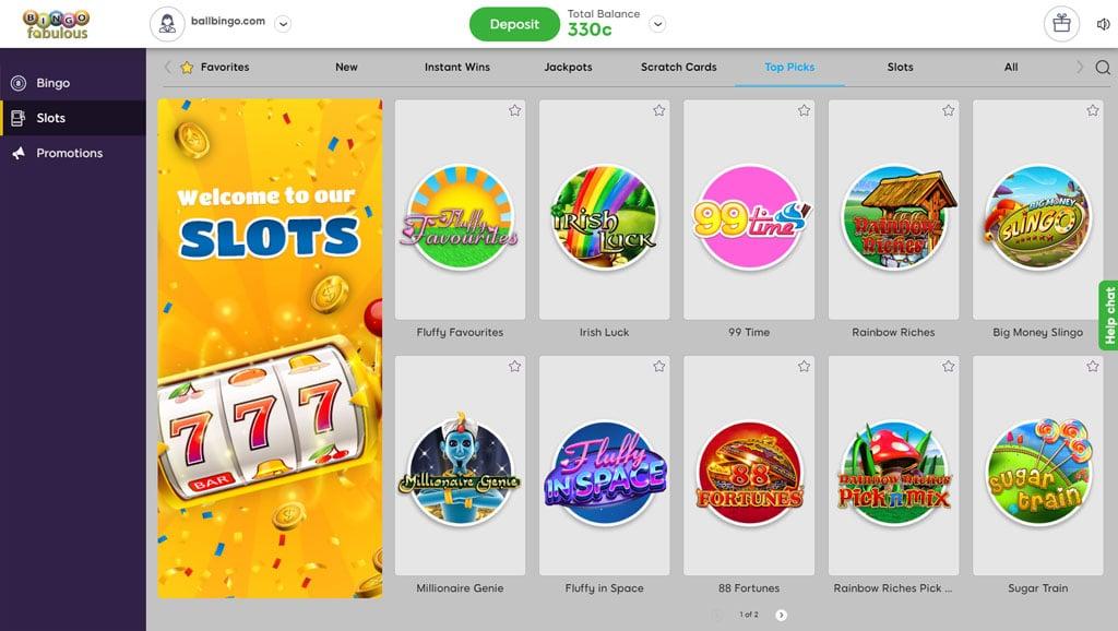 bingo fabulous slots