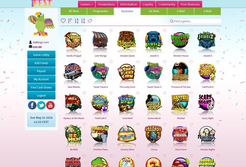 bingo fest slots