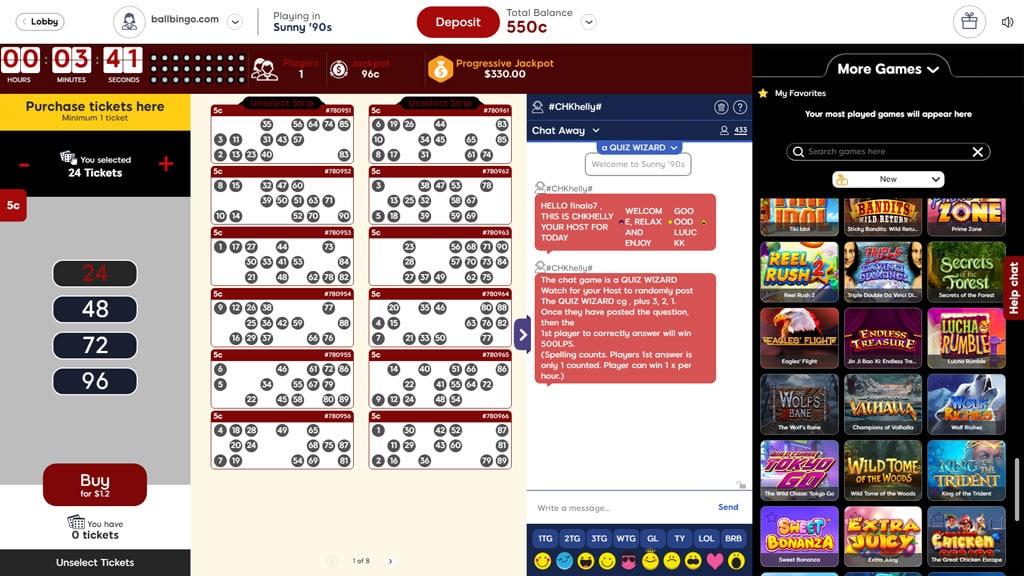 bingo hearts 90 ball