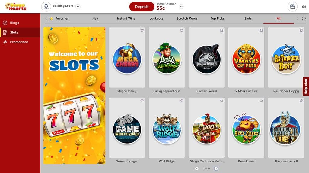 bingo hearts slots
