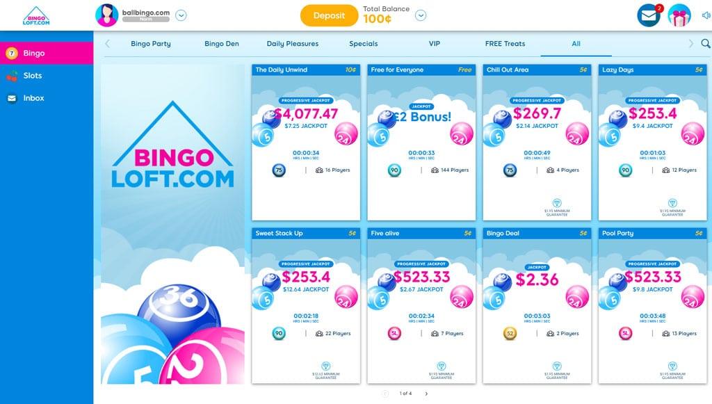 bingo loft lobby