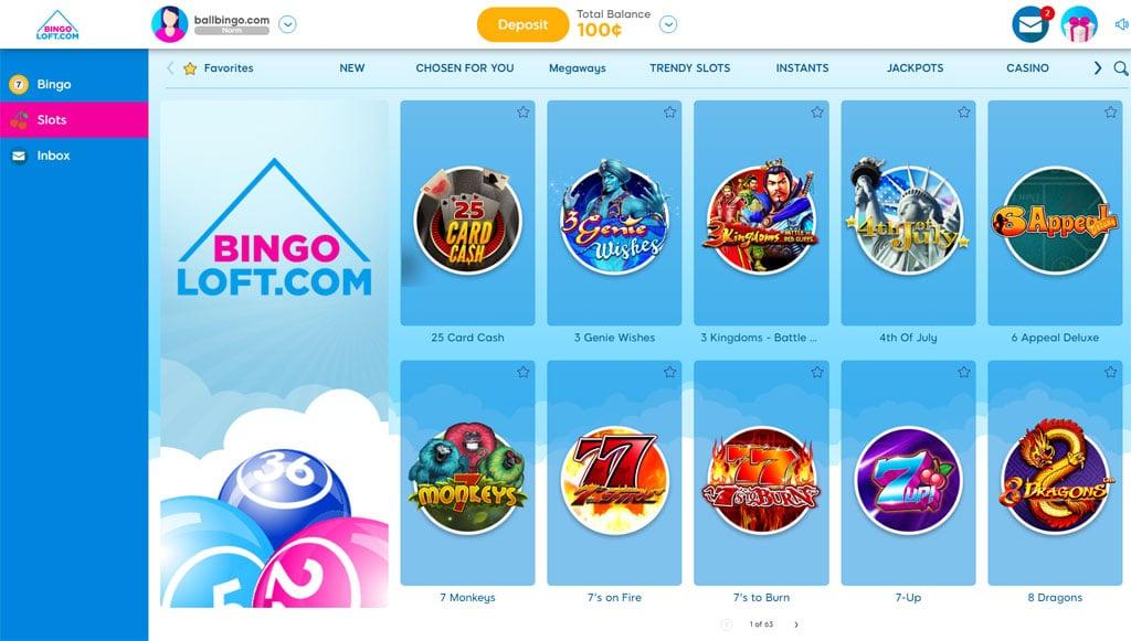 bingo loft slots