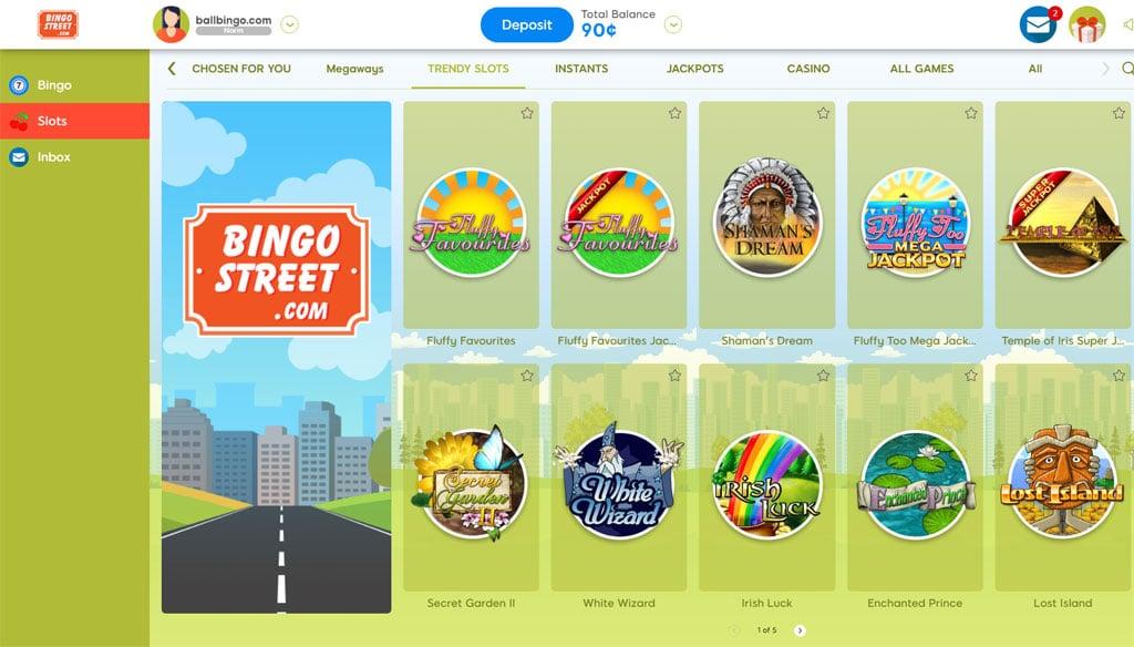 bingo street slots
