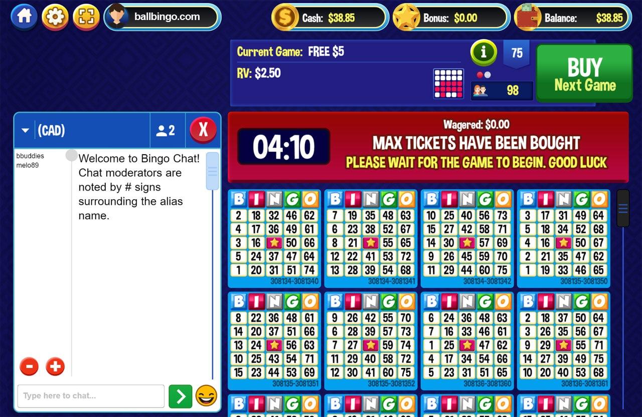 canadan dollar bingo