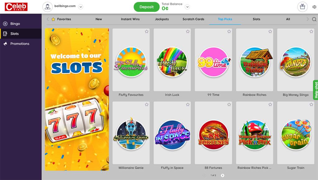 celeb bingo slots