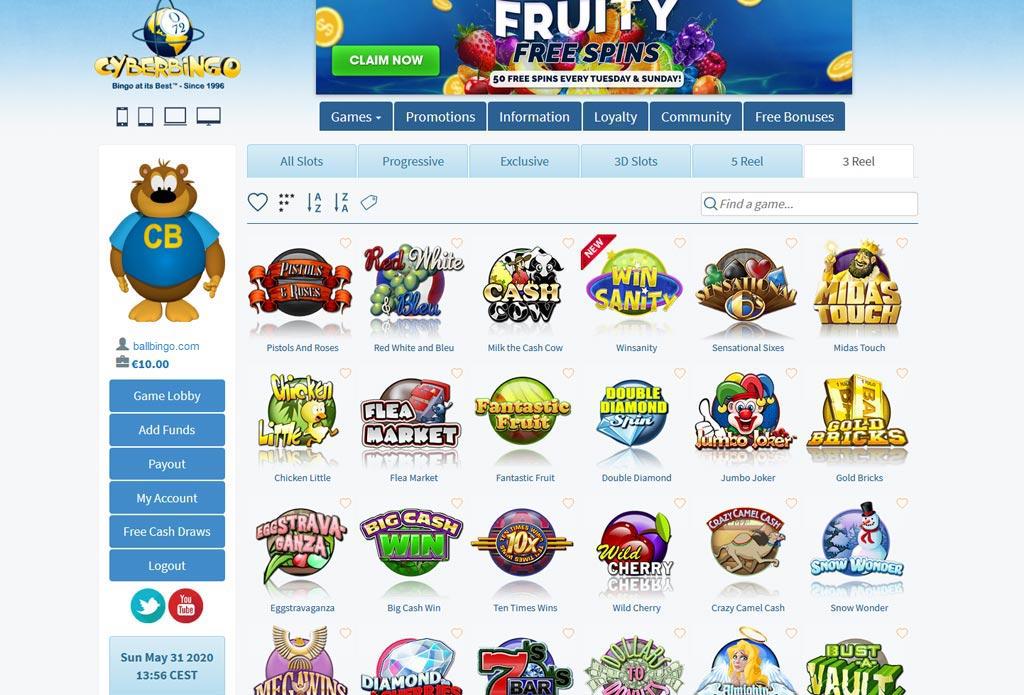 cyber bingo slots online