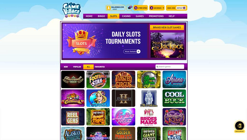 gamevillage bingo slots