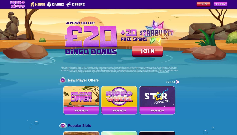 Hippo Bingo website