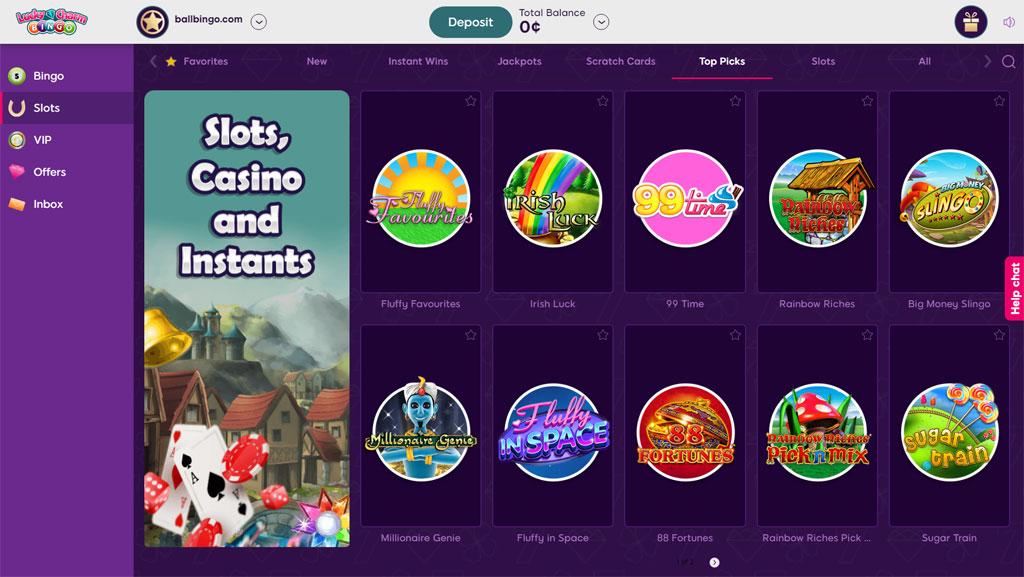 lucky charm bingo slots