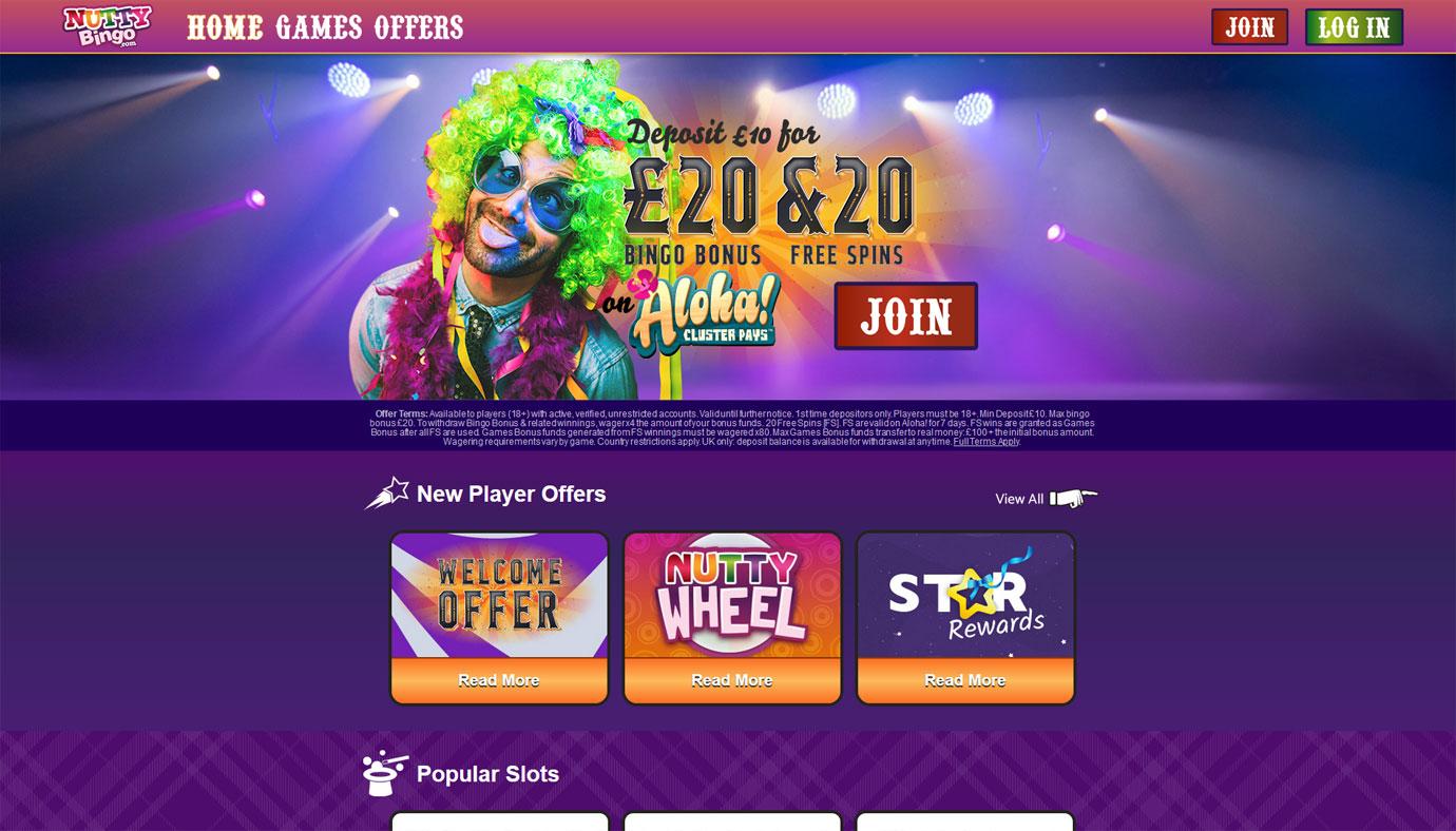 Nutty Bingo website
