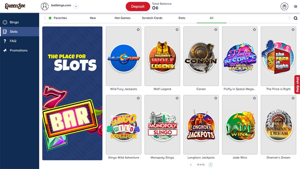 queenbee bingo slots