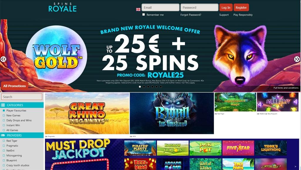 Spins Royale online