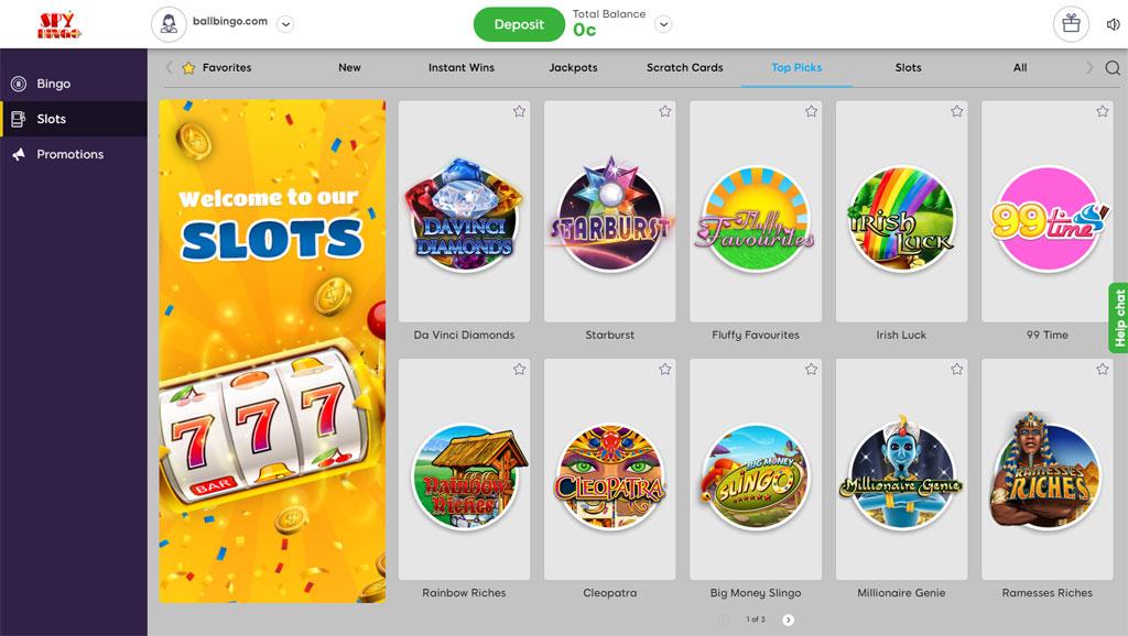 spy bingo slots