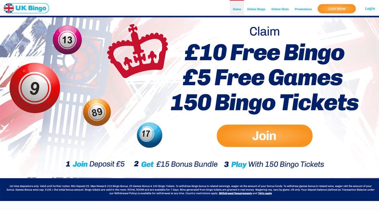 UK Bingo website