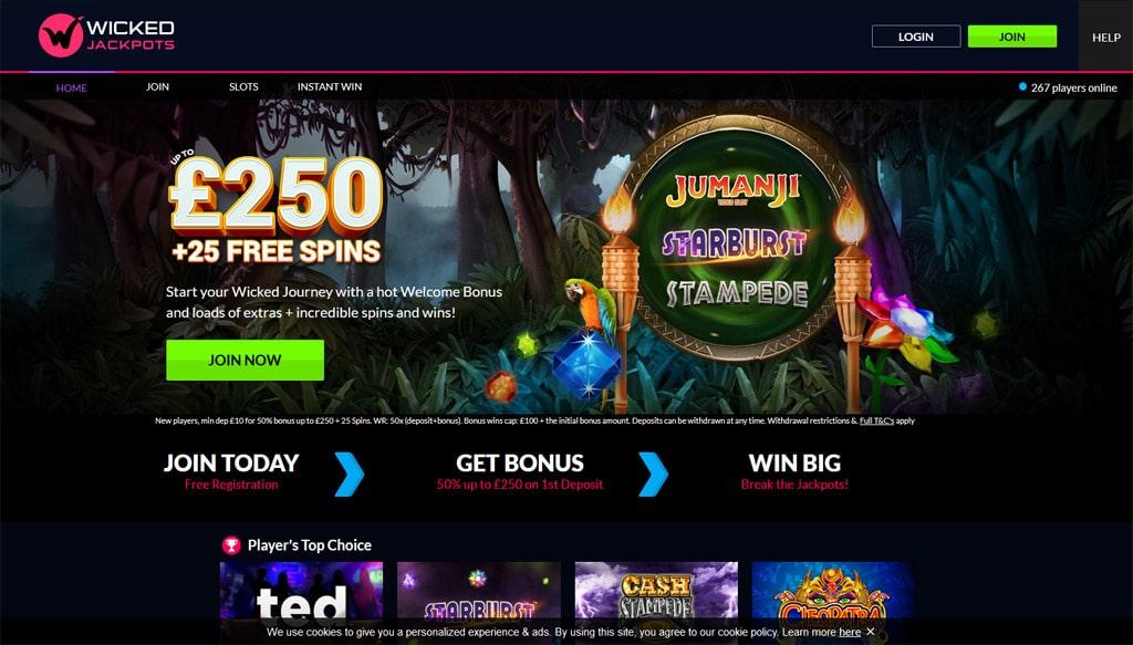 Wicked Jackpots online