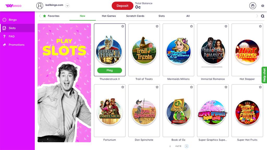 yay bingo slots