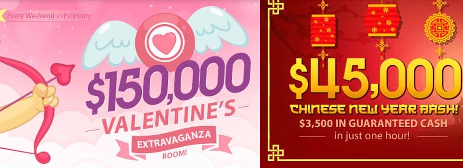 $150,000 Valentine's Extravaganza Room at AmigoBingo!