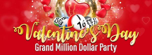 Celebrate the season of love in the Valentine's Day Grand Million bingo party