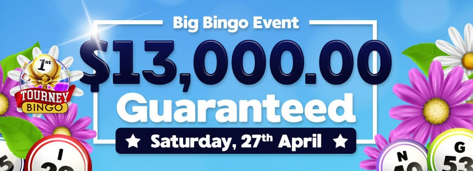 Get ready to cash out with $13,000 of guaranteed cash prizes in our April Big Bingo Event