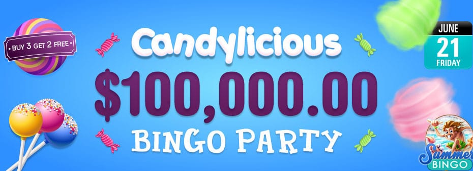 Get ready for the tastiest Bingo party of the year with up to $100,000 of sweet cash prizes!