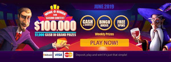 $100,000 Wine-O-Bingo and Casino Contest