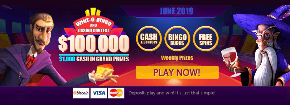 $100,000 Wine-O-Bingo and Casino Contest