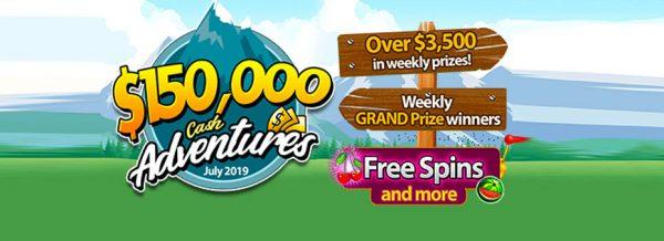 $150,000 Bingo Cash Adventures July 2019