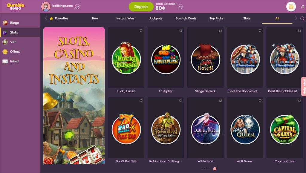 bumble bingo slots