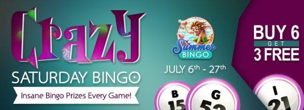 Crazy Saturday Bingo – Win fabulous bingo cash prizes every Saturday