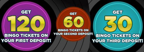 Get your 1st deposit offer! Deposit £10, get 120 bingo tickets at Sing Bingo