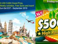 $150,000 Bingo Adventure Around the World – Sept 2019 at Amigo Bingo
